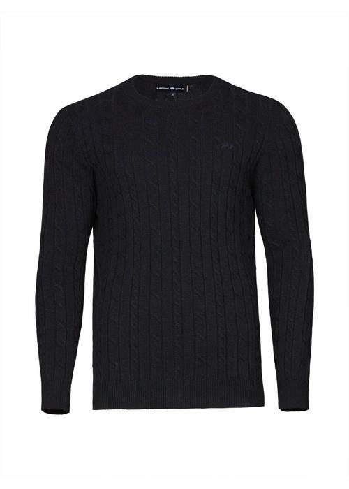 Raging Bull<br />SIGNATURE CABLE KNIT CREW NECK SWEATER (NAVY)