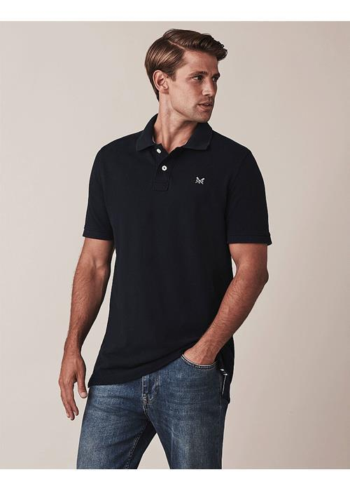 Crew Clothing<br />Classic Pique Polo Shirt (Navy)