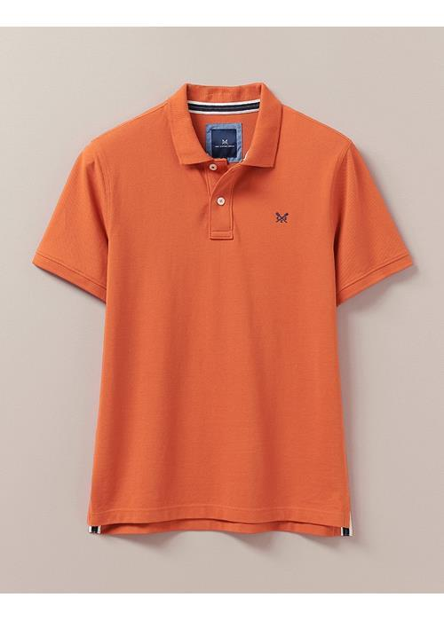 Crew Clothing<br />Classic Pique Polo Shirt (Roux Marl)