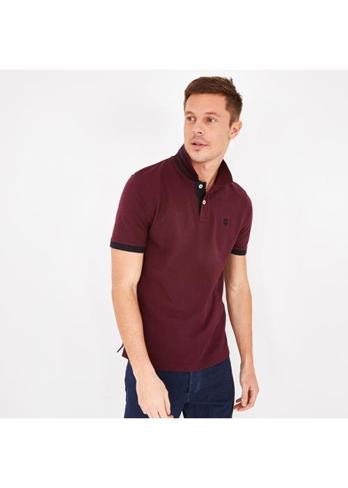 Eden Park<br />Plain Polo Shirt Contrast Collar (Wine)