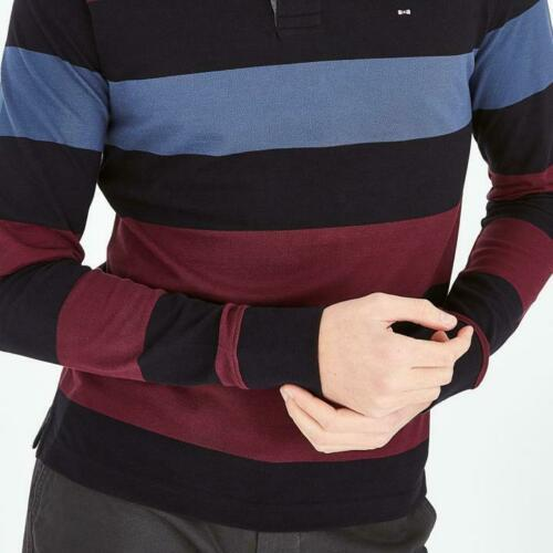 long sleeve striped polo (denim)