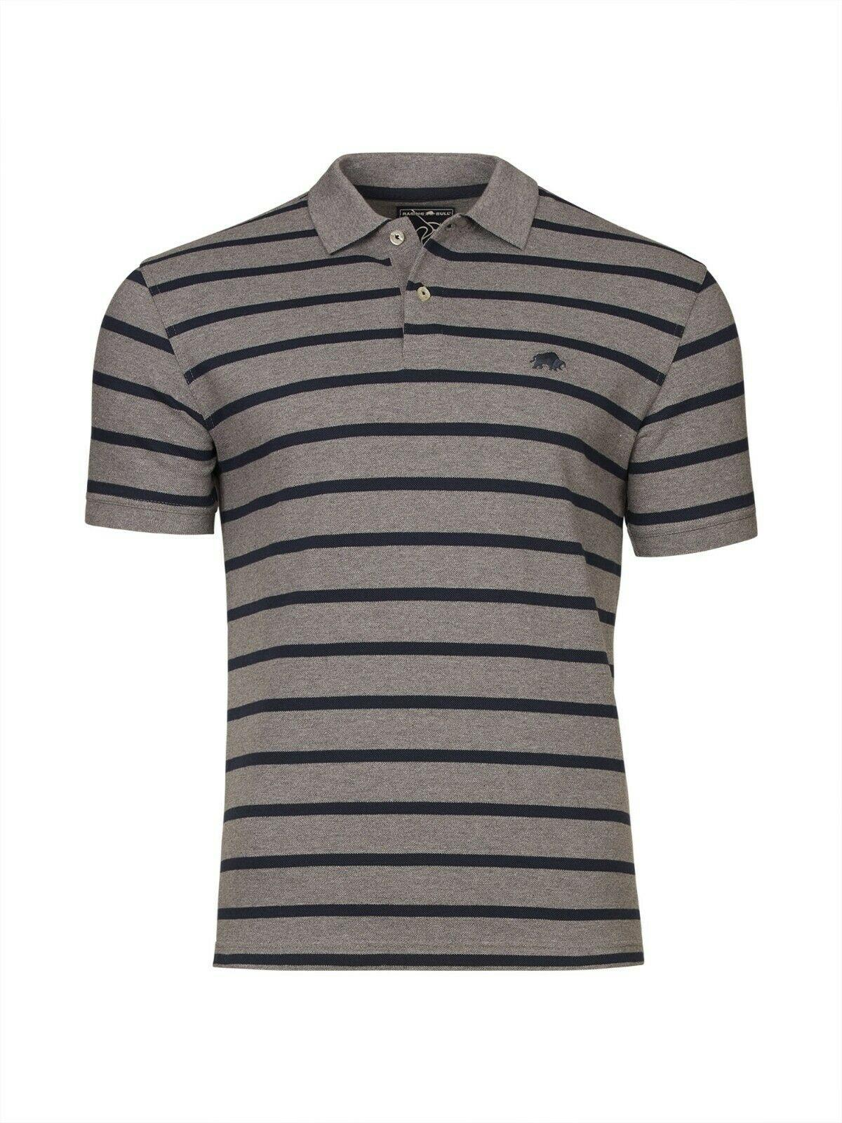 breton striped polo shirt (grey/navy)