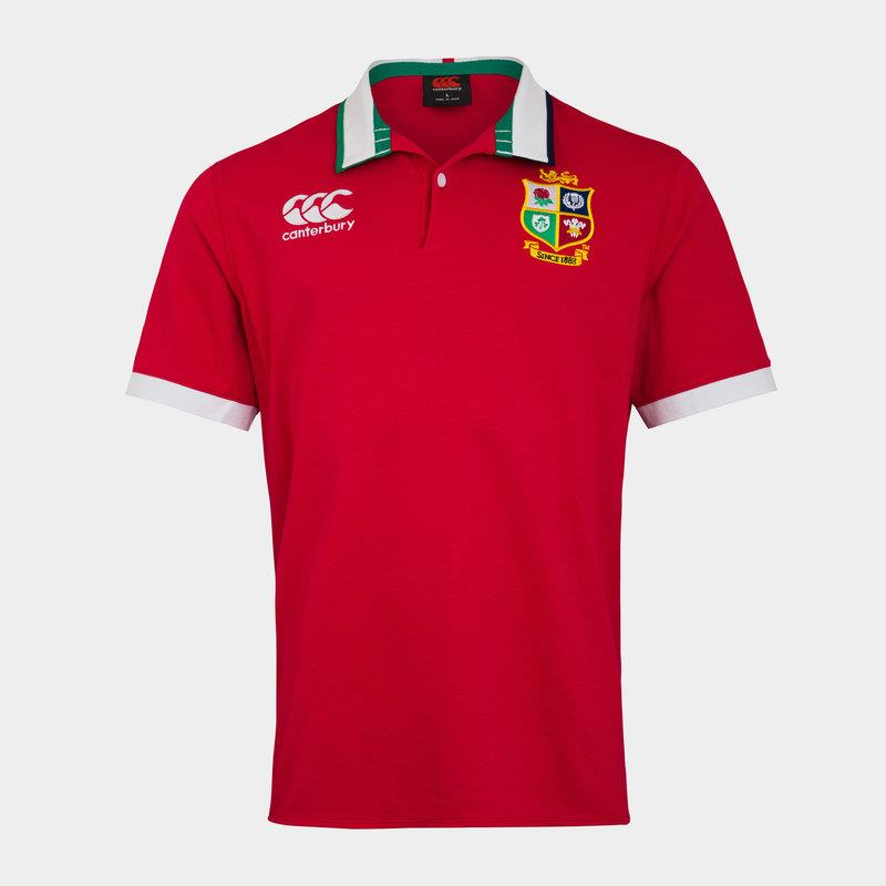 british lions s/s classic supporters jersey (red)