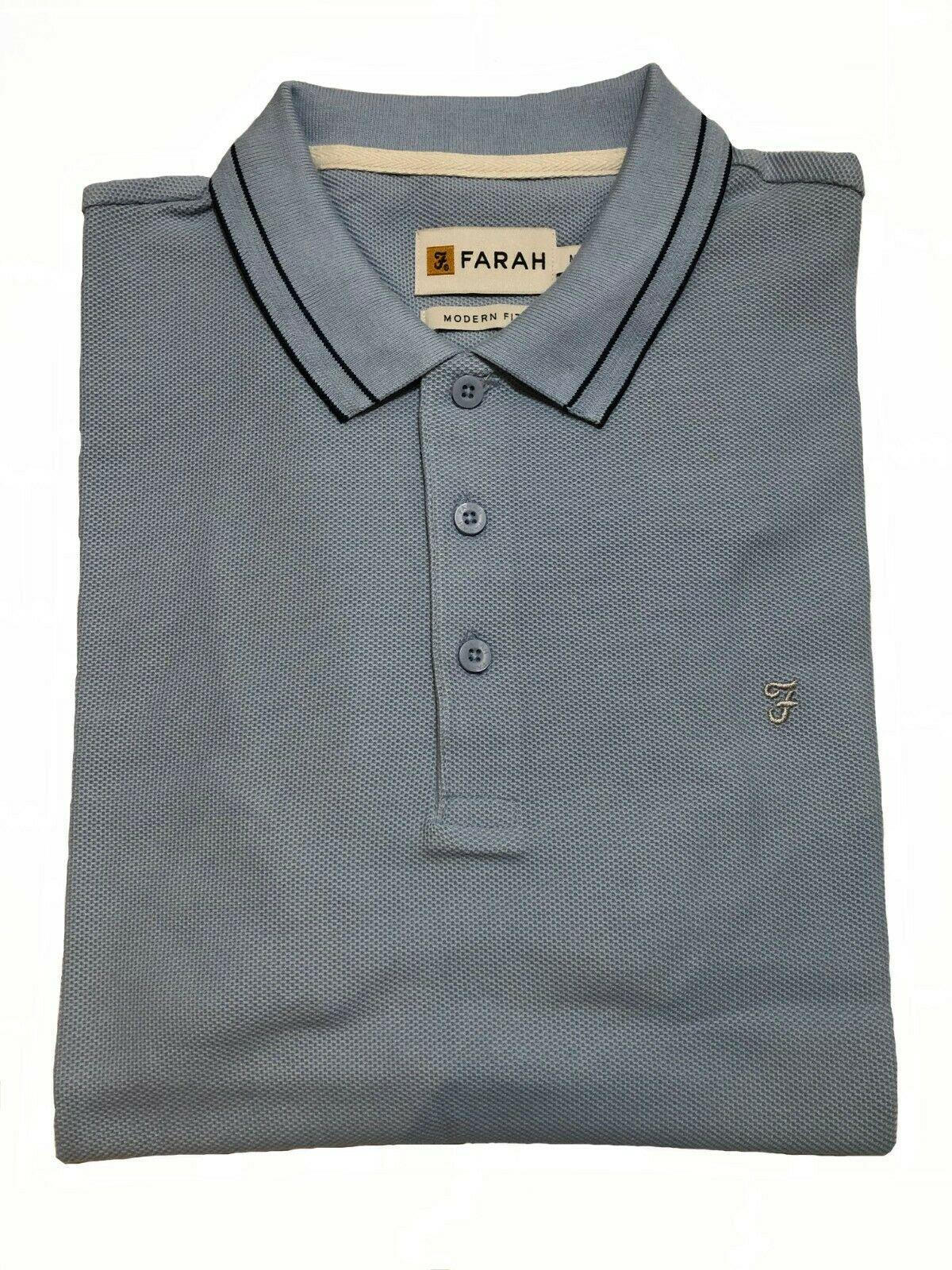 honeycomb short sleeve polo shirt (sky blue)